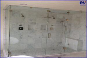 Frameless shower doors installation Dallas Fort Worth